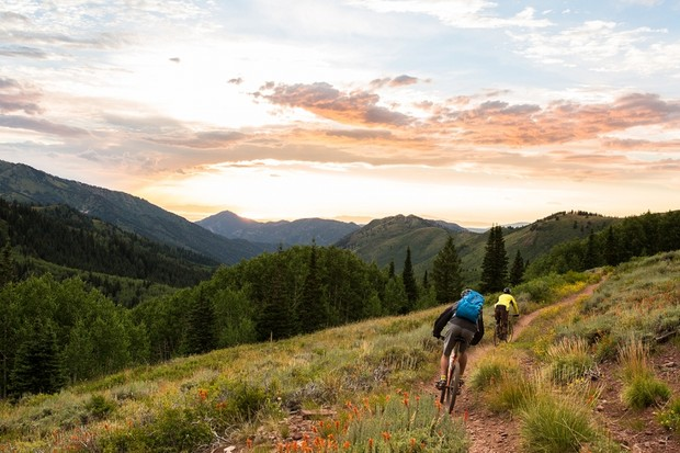 This is the proverbial me riding into the sunset – only neither of the riders in the image is me and I've never ridden this trail before