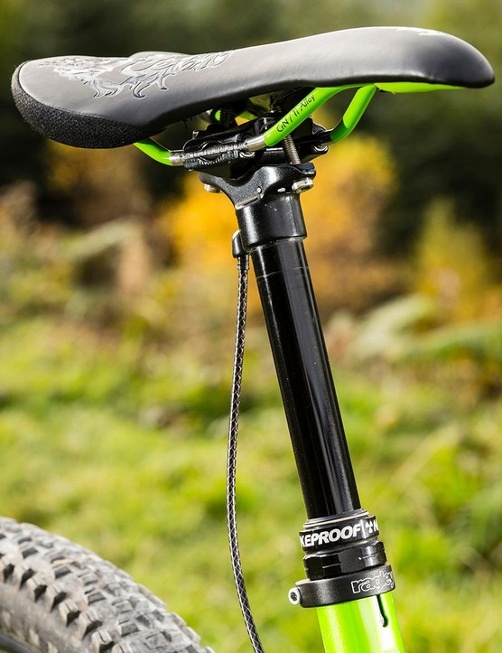 The externally routed Nukeproof dropper is a bit meh, and will probably mar your paint job