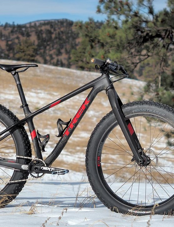 The Trek Farley 9.8 is one of the highest performing fat bikes currently available – assuming your definition of performance places a strong emphasis on fast and light