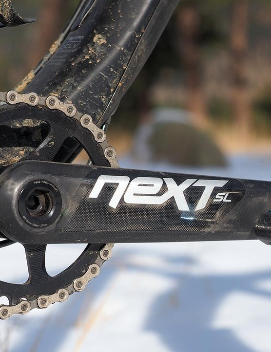 How dedicated was Trek to creating an ultralight fat bike? Enough to use Race Face's awesome – and expensive – Next SL carbon crankset