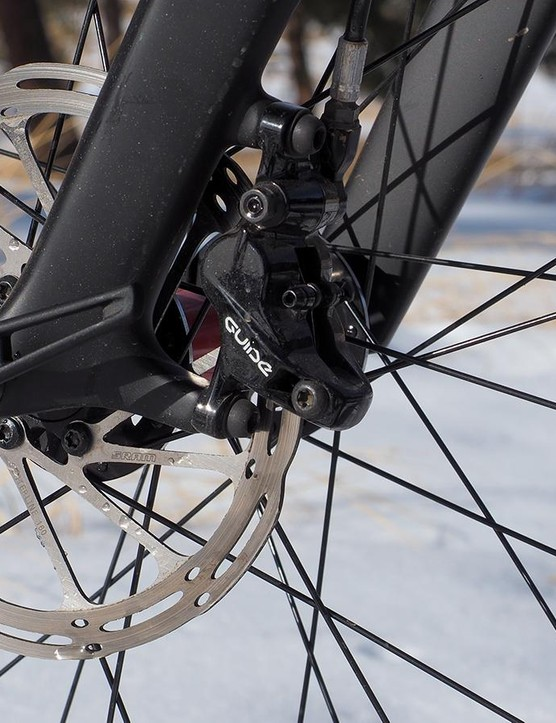The SRAM Guide RS brakes are outstanding with ample power and excellent control