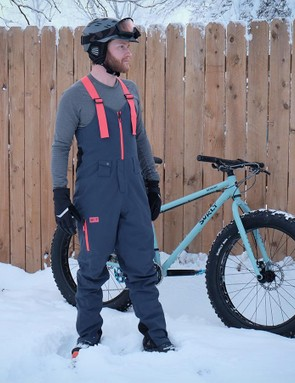 The 3L Tech Bibs are constructed from a three-layer softshell fabric