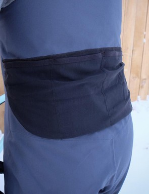 The 3L Tech Bibs get the SWAT treatment, with a four-pocket storage system sewn to the outside of the bibs