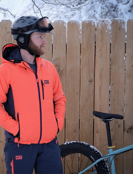 The Tech Insulator jacket gets its warmth from Primaloft synthetic insulation