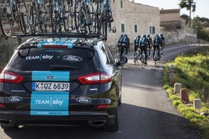 Team Sky's new Ford Mondeo wagons will be used to follow riders during races