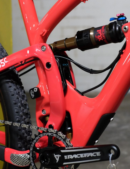 Switch Infinity is the name of Yeti's unusual suspension linkage system