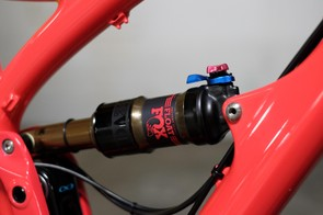 Rear impact absorption comes courtesy of a Fox Float Factory DPS shock, custom-tuned for lighter riders