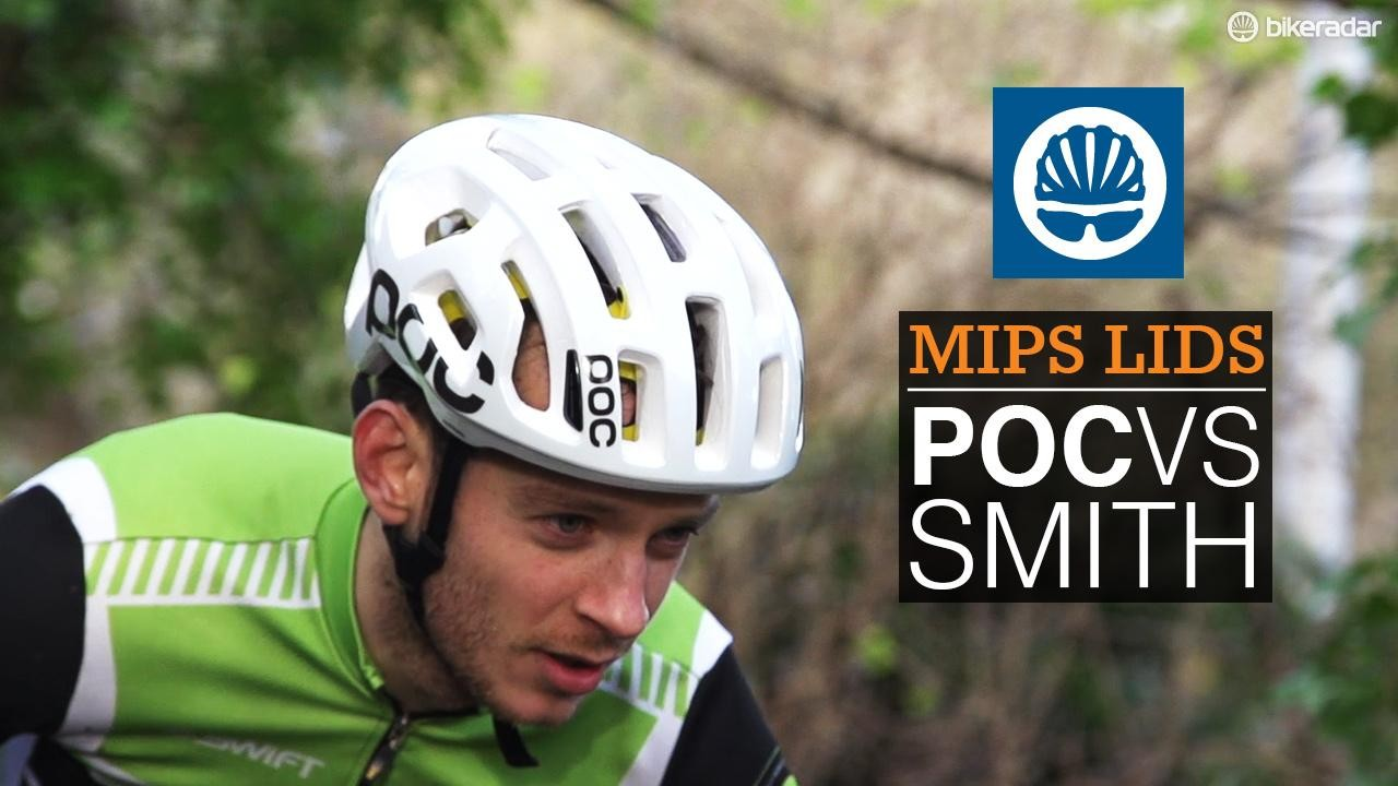 POC Octal versus Smith Overtake MIPS cycling helmets
