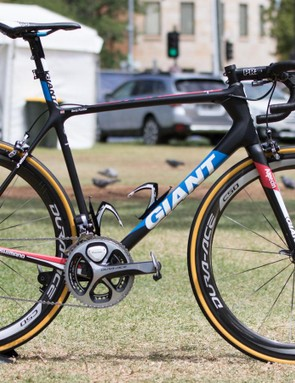 Giant-Alpecin get slightly revised graphics for 2016. Here's the new TCR Advanced SL team bike