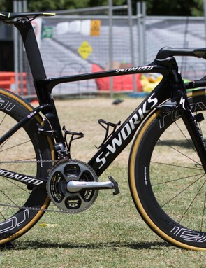 Adam Blythe of Tinkoff was the exception, riding this new Venge Vias in black