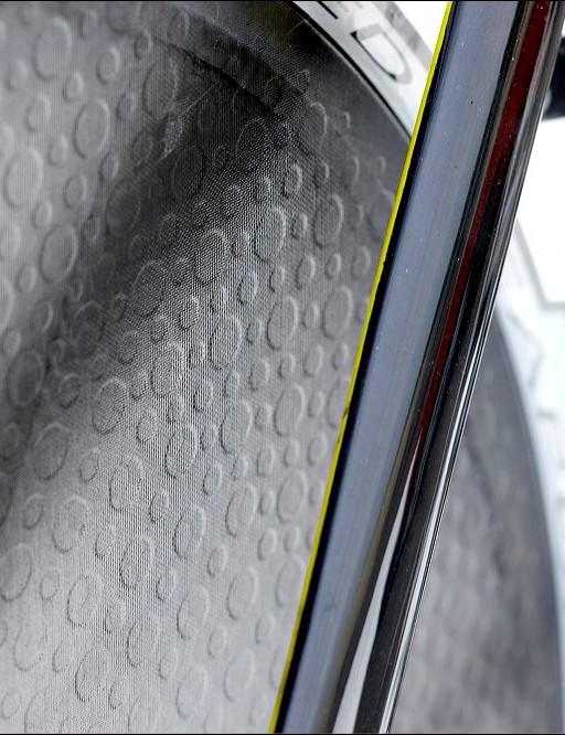 Got dimples? The Zipp rear disc sure has, for better aerodynamics