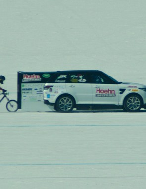 Denise Mueller hit 147mph on the Bonneville Salt Flats
