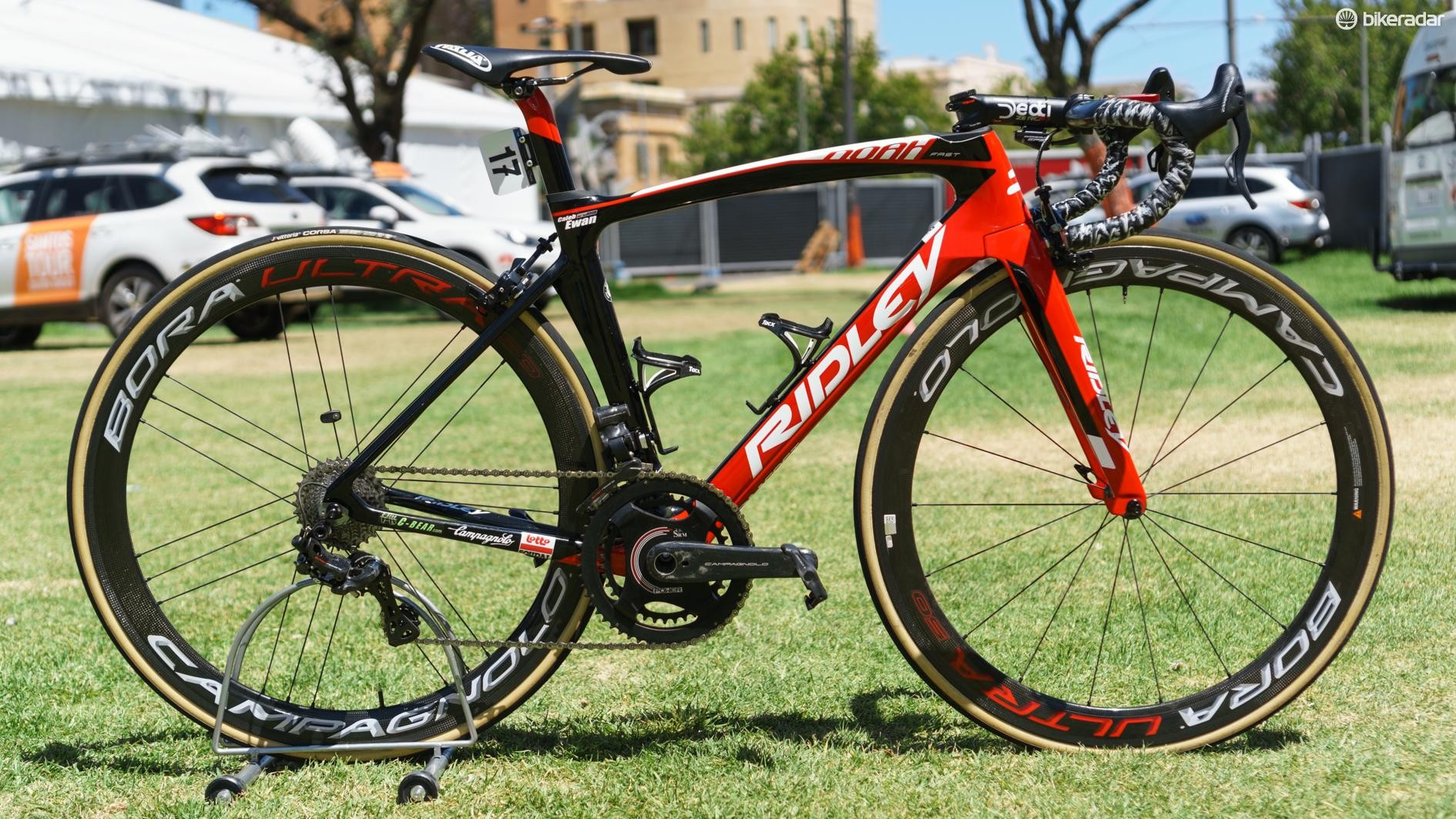 We saw the new groupset on Caleb Ewan's Ridley Noah