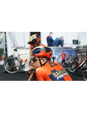 Bahrain-Merida uses helmets from Rudy Project