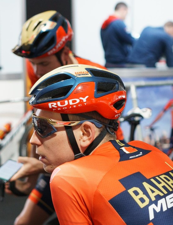 Bahrain-Merida uses helmets from Rudy Project