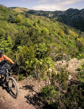 Going up. This is where e-mountain bikes really shine and where we constantly found ourselves shifting under power with zero issues