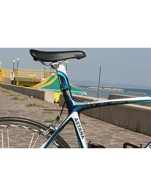The no-cut integrated seat mast  is one of the biggest visual changes from the old Madone.