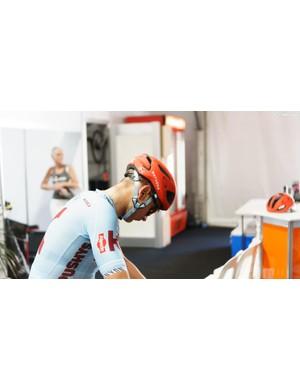 Katusha-Alpecin has Oakley, a relative new comer to the cycling helmet game, as a helmet sponsor