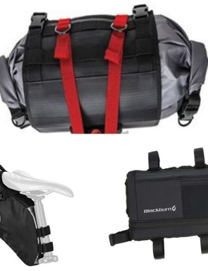 Blackburn's Outpost bikepacking bags are another popular choice
