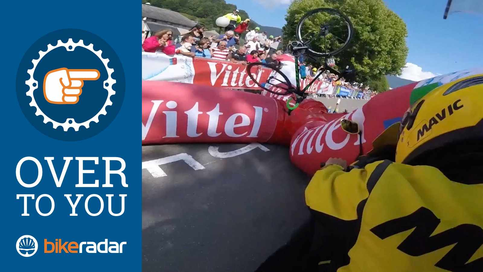 Adam Yates crashed spectacularly into an inflatable arch recently… How about you?