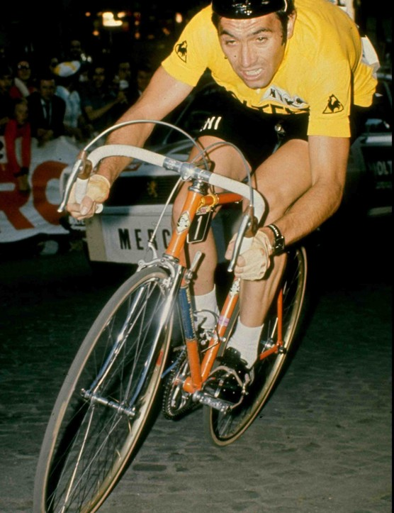Eddy Merckx, ripping it up during his Tour days.