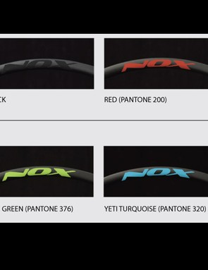 Eight decal colors are available, test wheels were a stealthy black