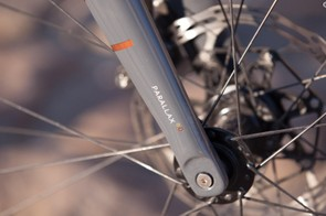 The Parallax carbon fork probably contributes to the plush ride