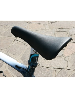 Like Lance Armstrong, Contador prefers a San Marco Concor Light saddle.