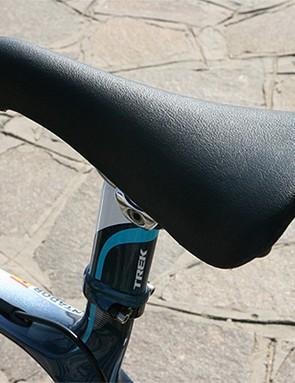 Like Lance Armstrong, Contador prefers a San Marco Concor Light saddle.