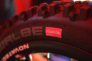 Schwalbe's new Addix compound tyres are a popular choice here in Lourdes. For some, such as Norco team rider Joe Smith, this will be the first outing on the new compound