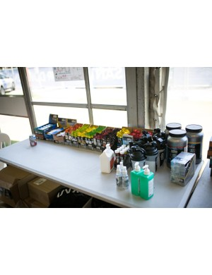 Team Sky have everything from nutrition to sunscreen and after-sun ready and waiting for the riders
