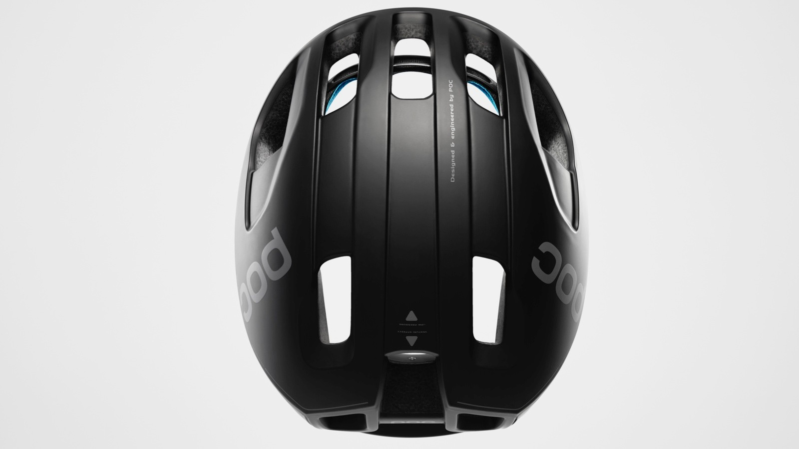 POC claims the helmet's internal channels, exit ports and rear shape combine to make a fast but well-ventilated helmet