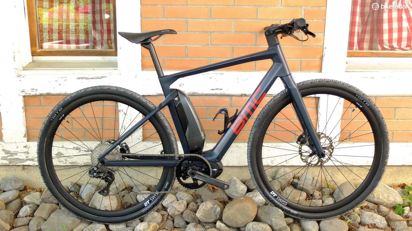 BMC's Alpenchallenge AMP Cross LTD is part road hybrid e-bike, part gravel bike