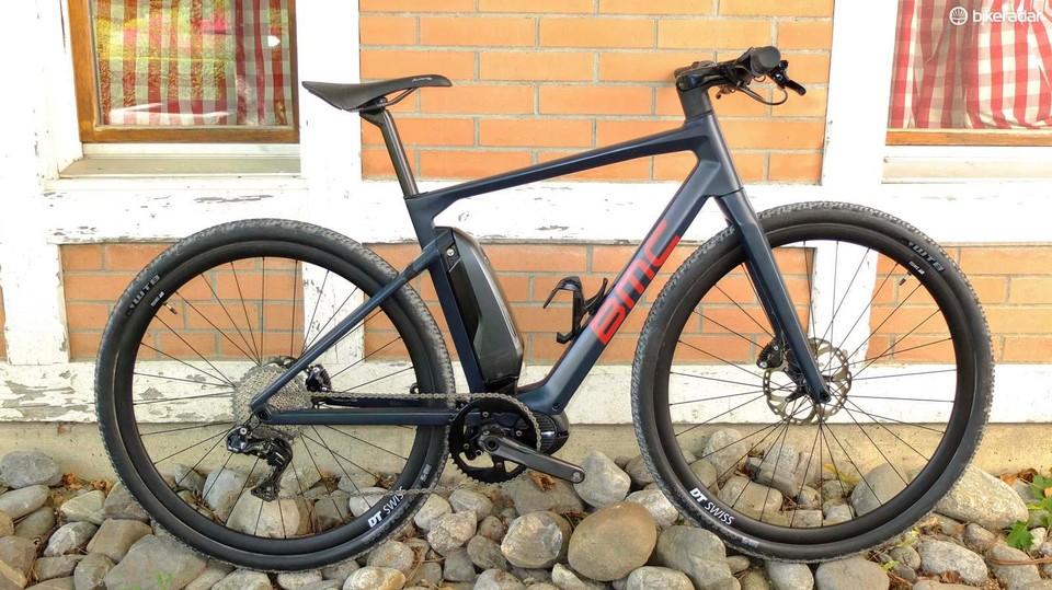 f33e1365f11 BMC's Alpenchallenge AMP Cross LTD is part road hybrid e-bike, part gravel  bike