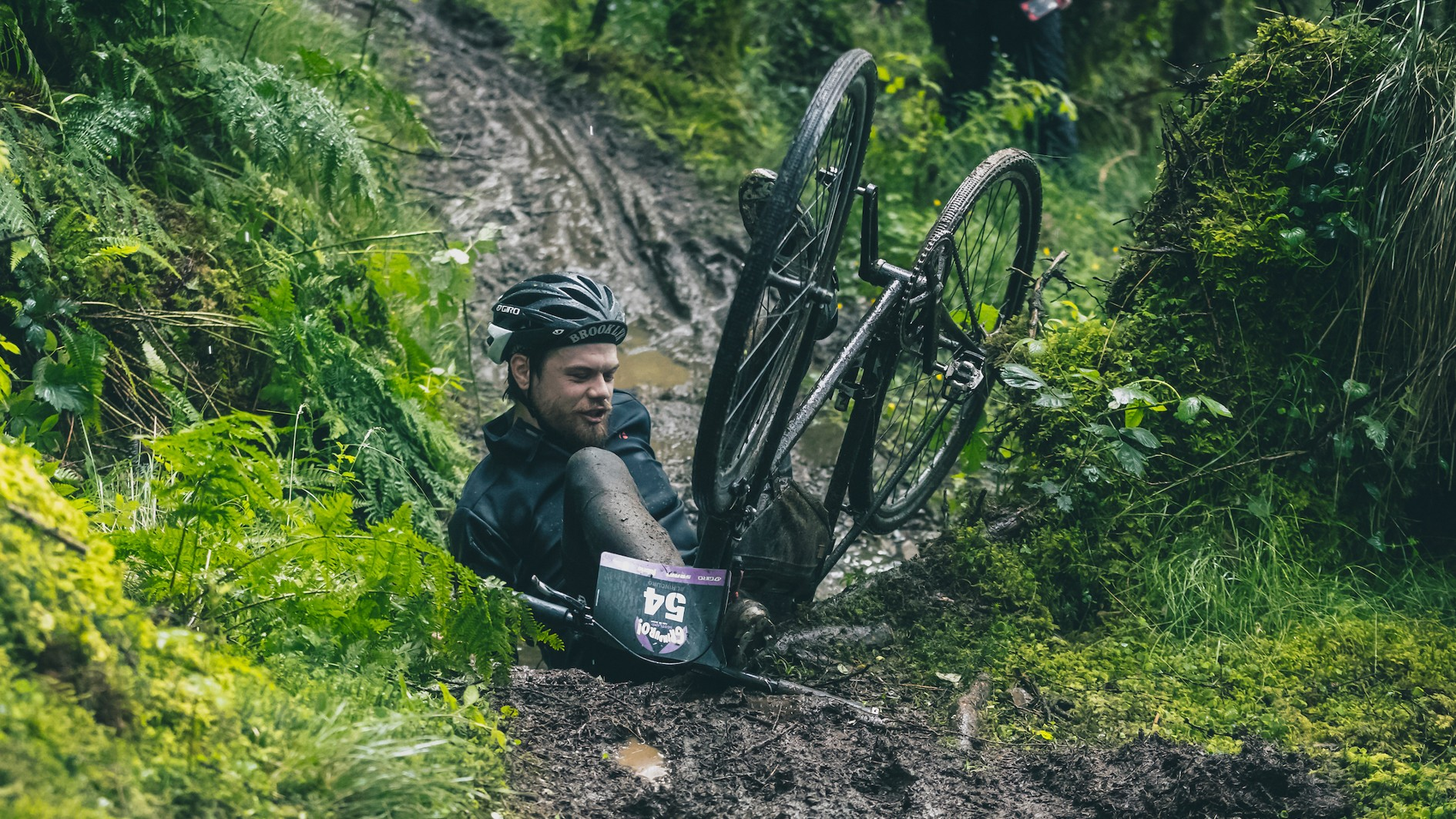 Regardless of what bike you were riding at the Grinduro, you were guaranteed to bin it at least once. Sorry for including this one Graham...