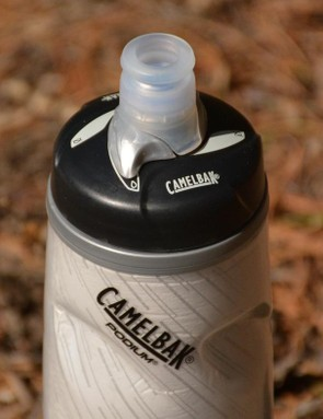 Camelbak's Podium bottles are oh so nice with a quality valve and a shut off