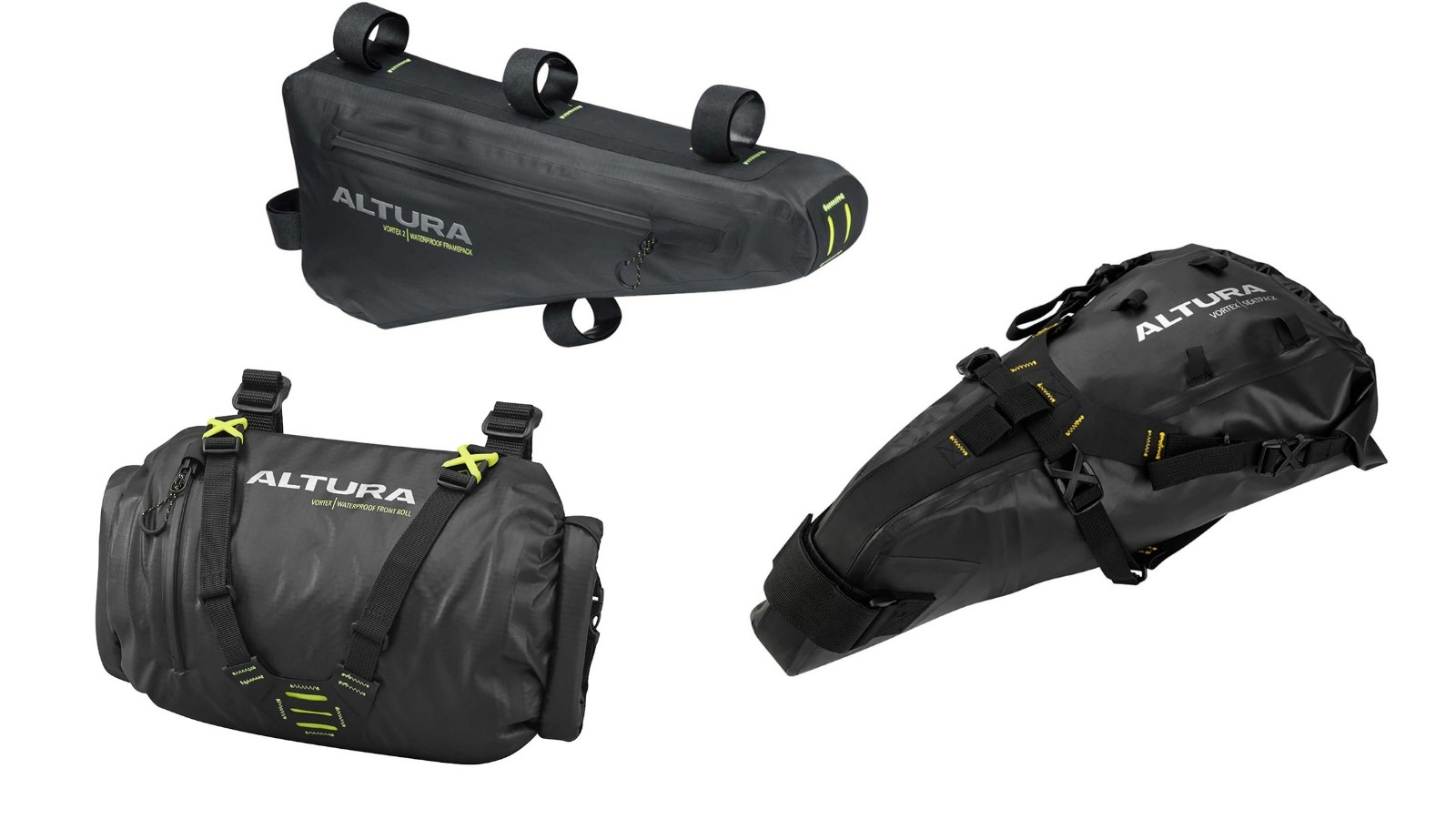 Altura's Vortex bikepacking bags are a more affordable option
