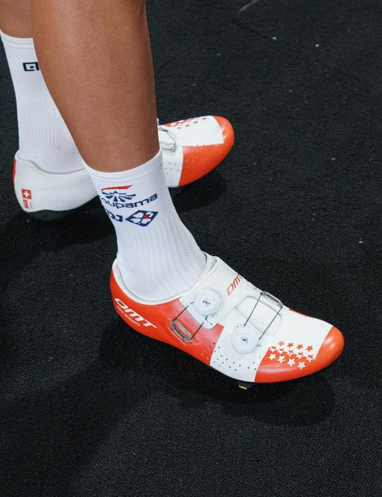 DMT shoes are a relatively rare sight in the pro-peloton