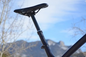 Bontrager's Drop Line post yields 125mm and worked well throughout testing