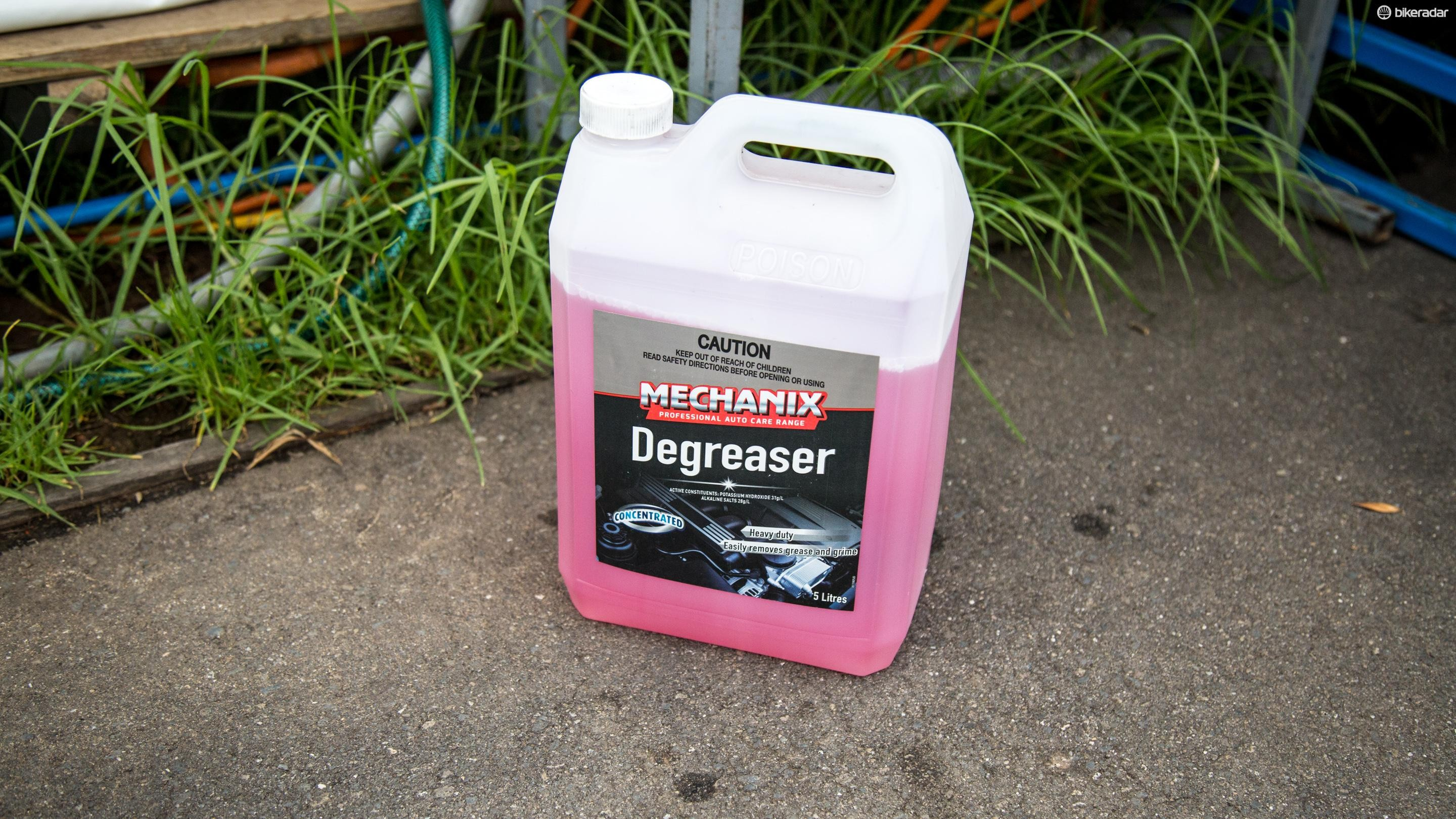 Automotive degreaser can be found around the pits at races