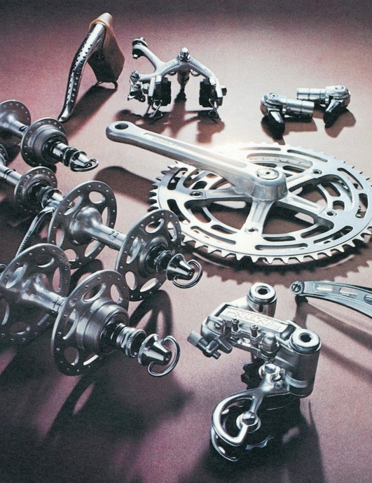 At Shimano's Cycling World factory, we spooted the first incarnation of Dura Ace from 1973