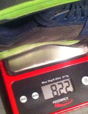 Euro size 45 pair weighs 822g / 1.81lbs