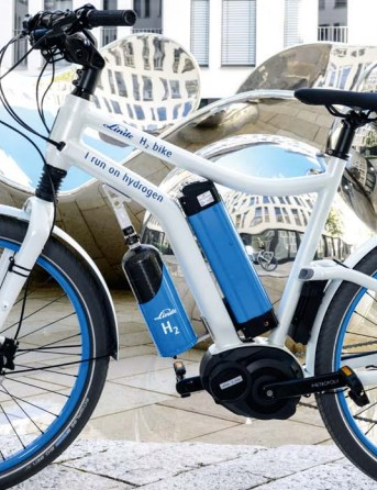 Linde's H2 e-bike doesn't need to be plugged in for a recharge