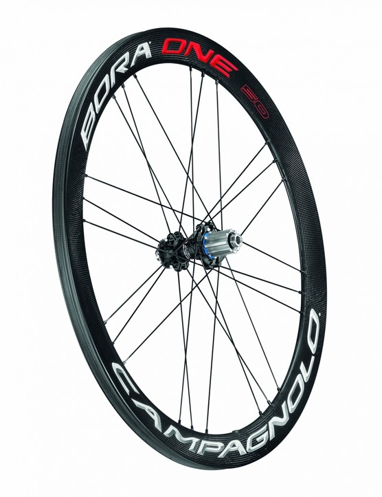 Campagnolo launched three new Bora One DB wheelsets, this one is the Bora One 50 DB tubular