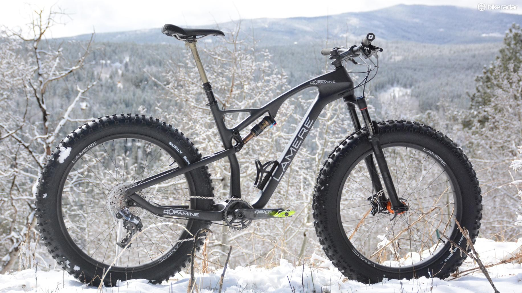 LaMere Cycles claims its Dopamine full-suspension fat bike is the lightest available