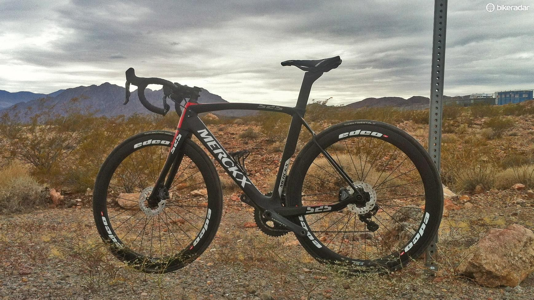 This is Eddy Merckx's EM525 Disc Performance race bike for 2017
