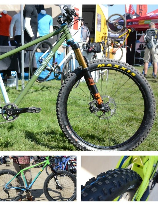 A lot of companies were showing off new bikes at Sea Otter this year, most of them featured plus-size tires