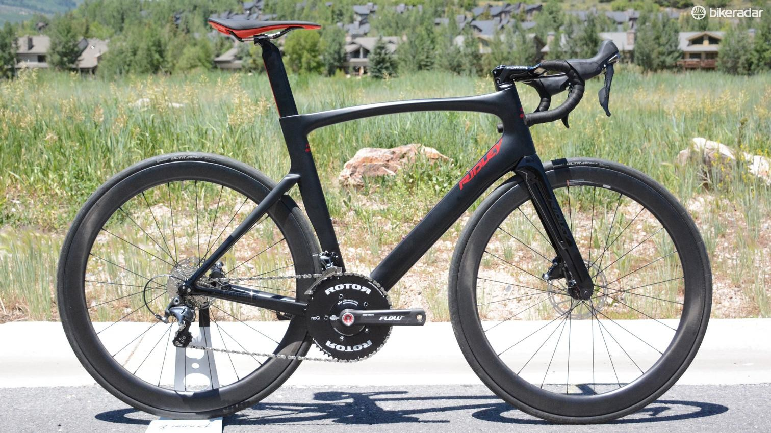 For 2018 Ridley's Noah SL gains an aero advantage by integrating all the cables