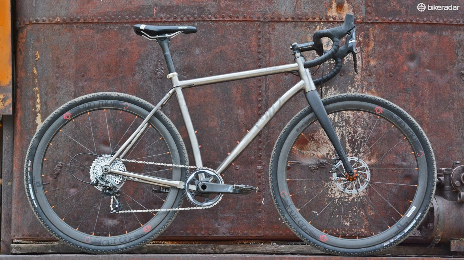 Ready to take on any gravel road, meet the titanium Why Cycles R+