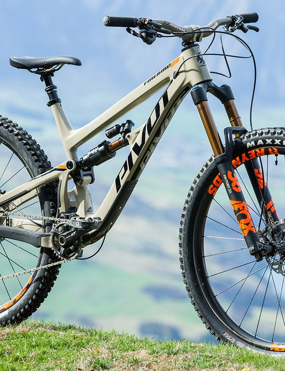 Pivot's carbon Firebird 29 features 162mm rear travel and 170mm up front